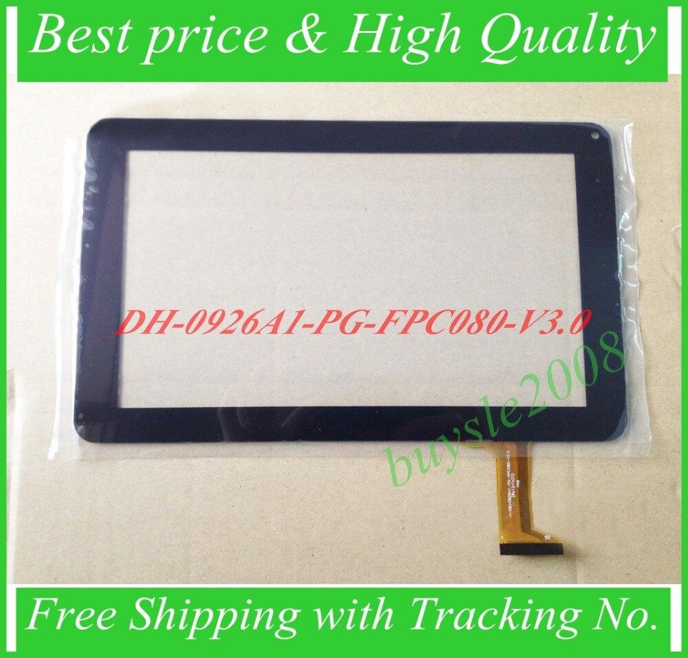 0926a1-HN 9 polegada tela sensível ao toque para Galaxy N8000 digitador de Vidro do painel sensor DH-0926A1-PG-FPC080-V3.0 observando tamanho e cor