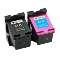 Free Shipping For HP 61xl Black HP 61XL Tri Color Compatible Ink Cartridge CH563WN CH564WN
