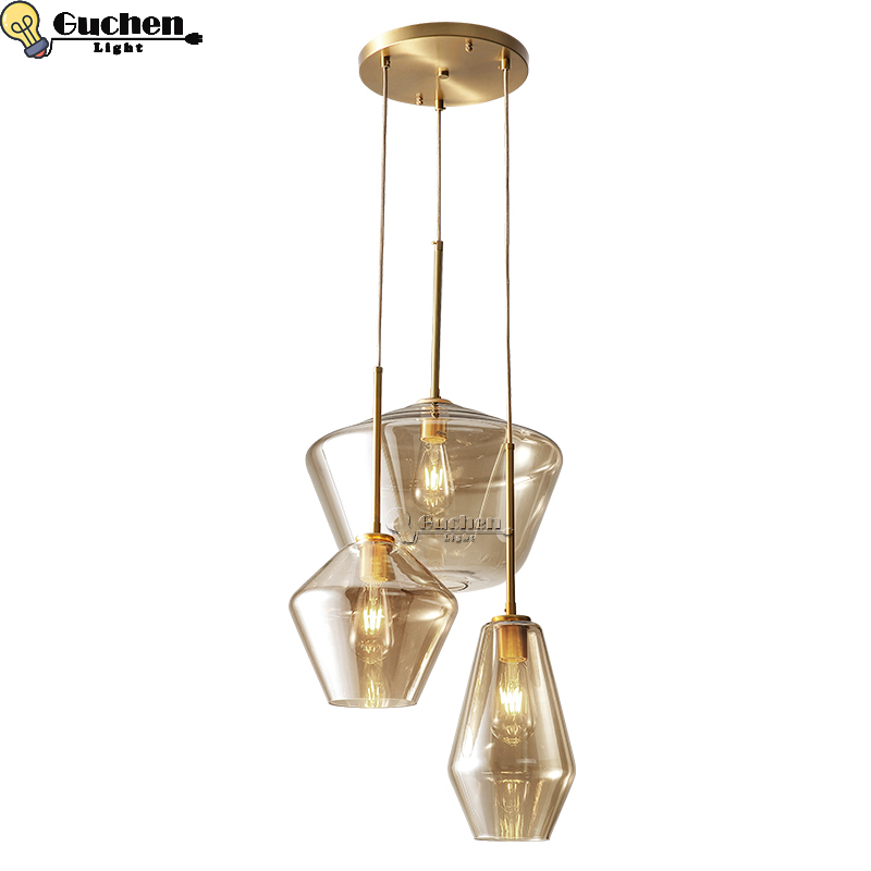 купить Nordic Modern loft hanging Glass Pendant Lamps Fixtures E26 LED Pendant lights for Kitchen Restaurant Bar living room bedroom по цене 4225.36 рублей