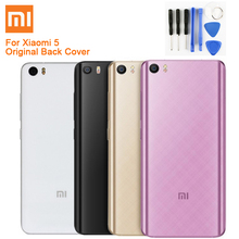 Original XIAOMI Glass Battery Rear Case For Xiaomi 5 Mi5 M5 Phone Backshell Back Cover Cases