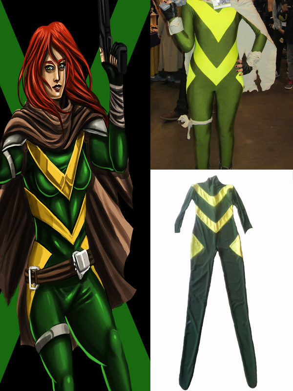 X-Men Hope Summers Costume Yellow And Dark Green Lycra Spandex Catsuit Superhero Cosplay Costume