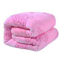 Winter Warm Raschel Blanket Embroidered Fluffy Chunky Thick Mink Wedding Gifts Bedding Double Bed Queen Size