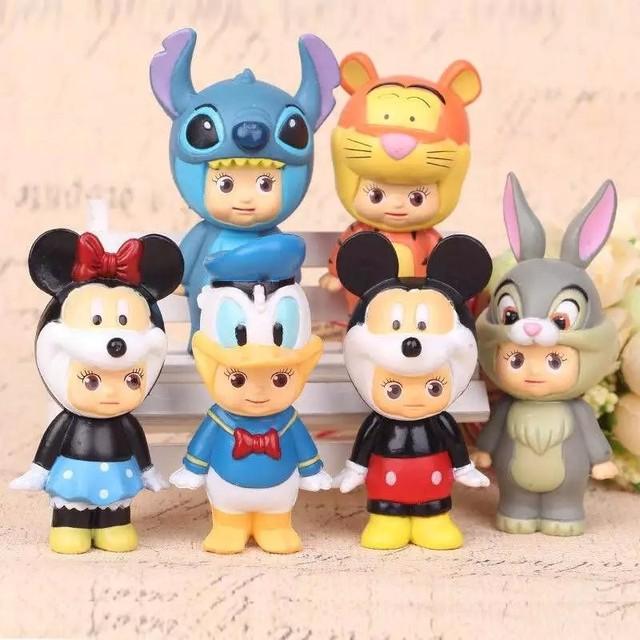 Disney Sonny Angel Kewpie  Mickey Minnie  Action Figures 6pcs