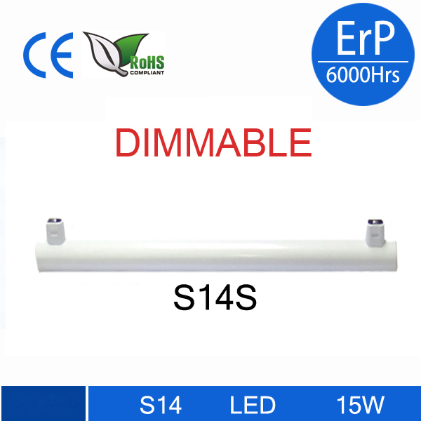 dimmable led linestra S14D S14S led tube light 3w 6w 10w 15w 300mm 500mm 1000mm mirror wall light replacement osram linestra 14 15 3 2015