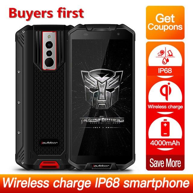 "2019 New Rugged Smartphone ioutdoor Polar3 IP68 Waterproof 4000mAh android 8.1 MTK6739V 3GB+32GB 5.5"" NFC 13MP 4G mobile phone"