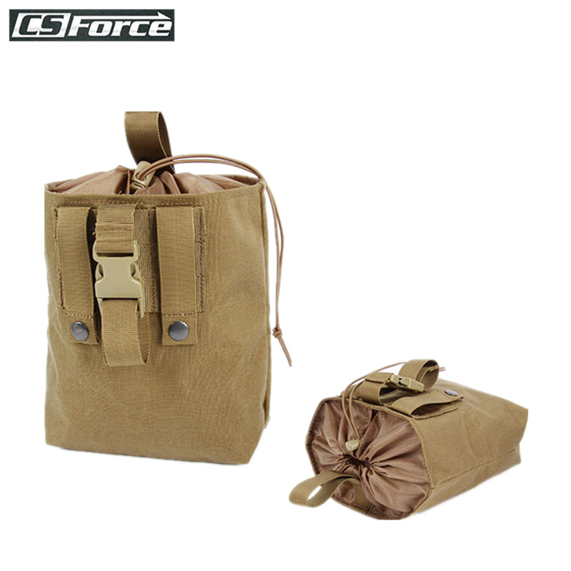 Tactical Folding Dump Drop Pouch MOLLE Protable Ammo Pouch Magazine Reloader Military Hunting Bags For Backpack Belt 600D Nylon