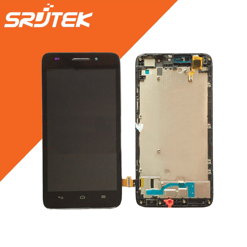 FOR Huawei Ascend G620S Touch Screen Glass with LCD Display Panel + Frame Full Assembly 5.0 Screen Black/White