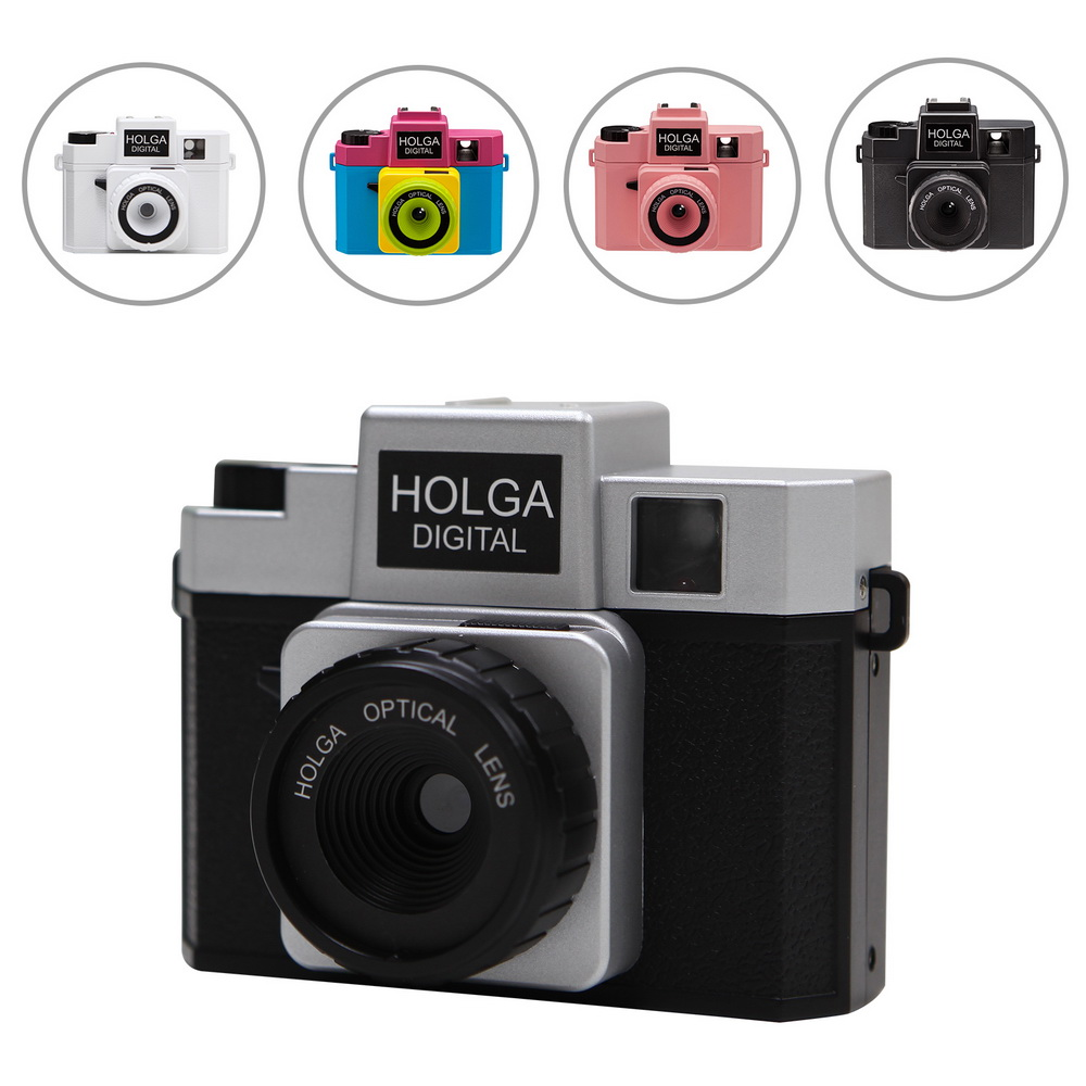 цены Holga Digital Camera Retro LOMO Filter Style with Hot Shoe Mount F2.8 F8.0 Aperture 8MP 1/3.2