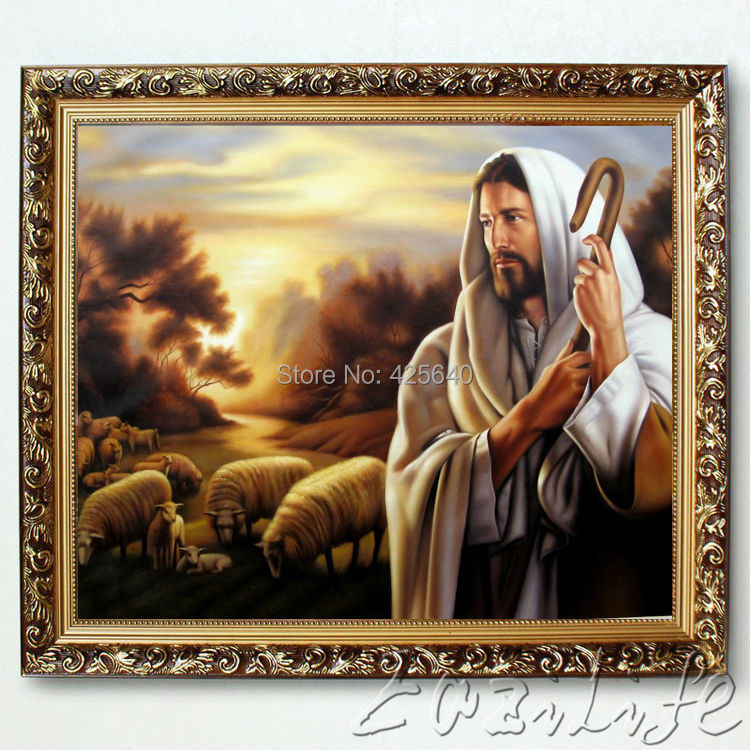 Home Interior Jesus: Popular The Good Shepherd Painting-Buy Cheap The Good