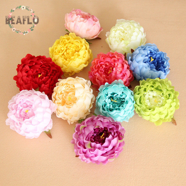 Petals silk flowers and home accessories home decorating ideas 1pc diy peony heads petals handmade silk flowers for wedding fake flowers for home decor mightylinksfo Image collections