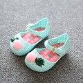14CM-16.5CM Kids Sandals Mini Melissa Mini Furadinha Flat VII Pineapple Toddler Summer Jelly Shoes Girls Sandals