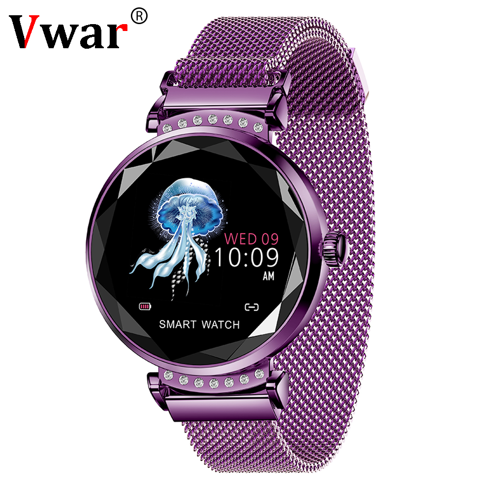 H2 femmes Bracelet de mode montre intelligente moniteur de fréquence cardiaque surveillance du sommeil podomètre Sport activité Tracker bande de montre-Bracelet intelligente