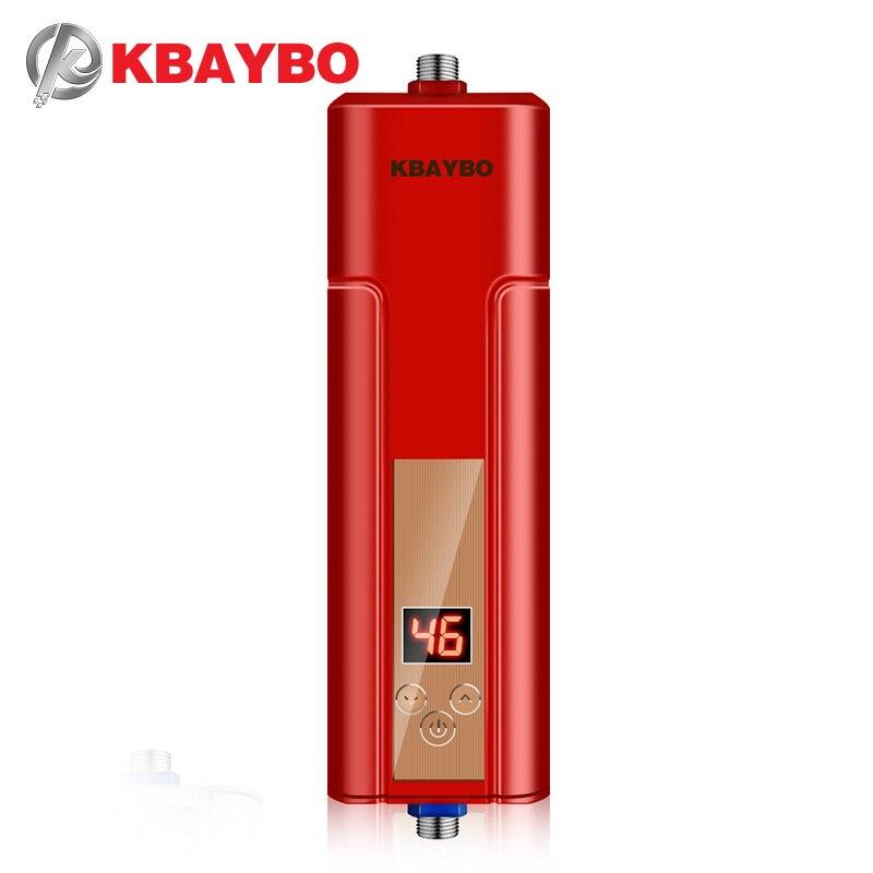 3 секунды Мгновенный водонагреватель Электрический Душ водонагреватель кран Термостатически контролируемый до 55 градусов Цельсия