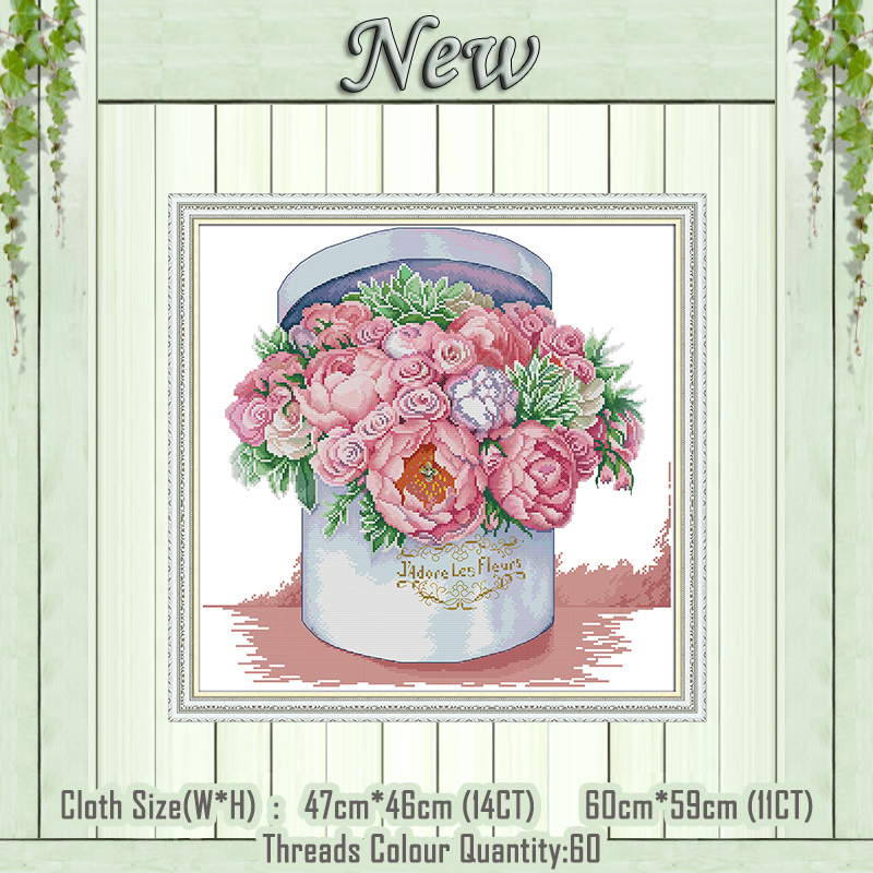 Send You Aromatic Flowers Paintings Counted Printed On The Canvas DMC 11CT 14CT Kits NKF Cross Stitch Embroidery Needlework Sets