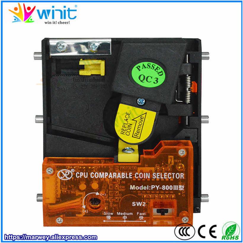 Py800 드롭 타입 수직 코인 수락 자 코인 셀렉터 코인 메커니즘 아케이드 게임기 용 전자 코인 비교기