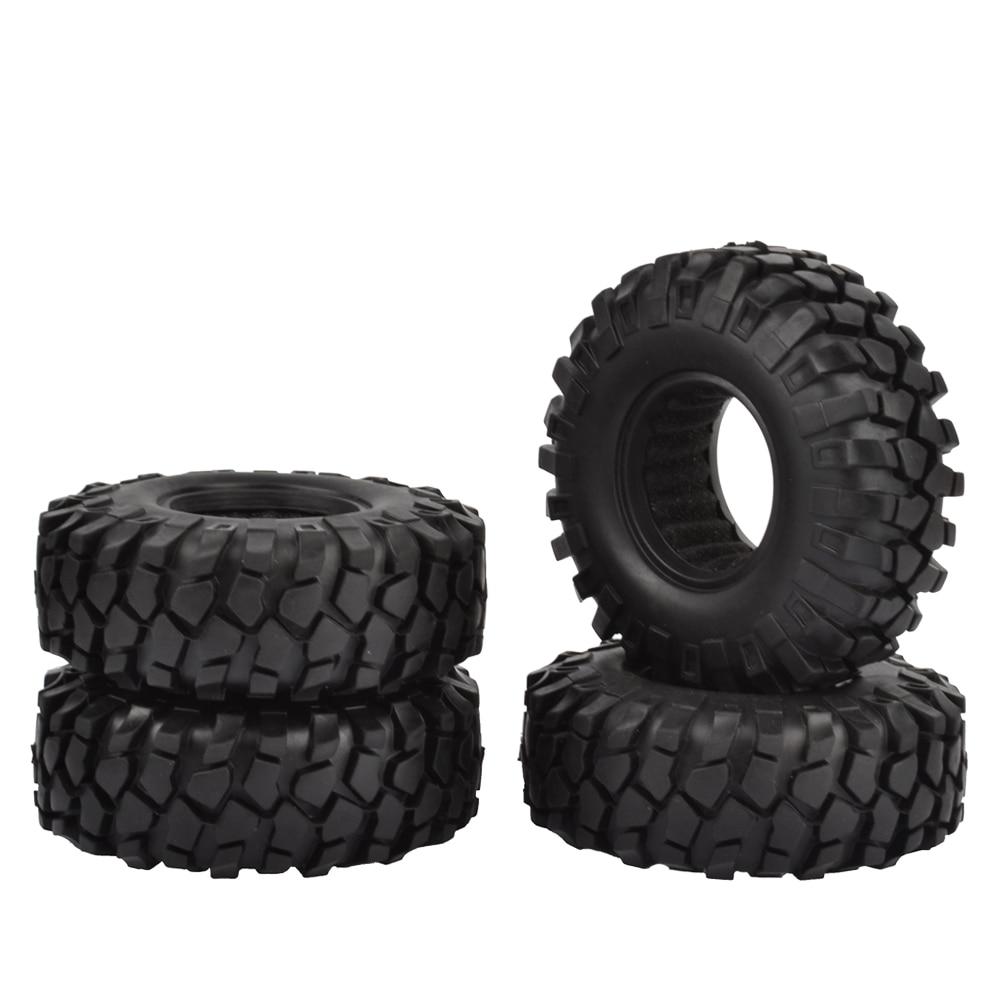 4 STÜCKE 108mm 1,9 zoll Gummirad Reifen für Axial SCX10 90046 Tamiya CC01 D90 D110 1:10 RC Crawler