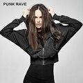PUNK RAVE punk style dark bats loose short hoodie PY-208
