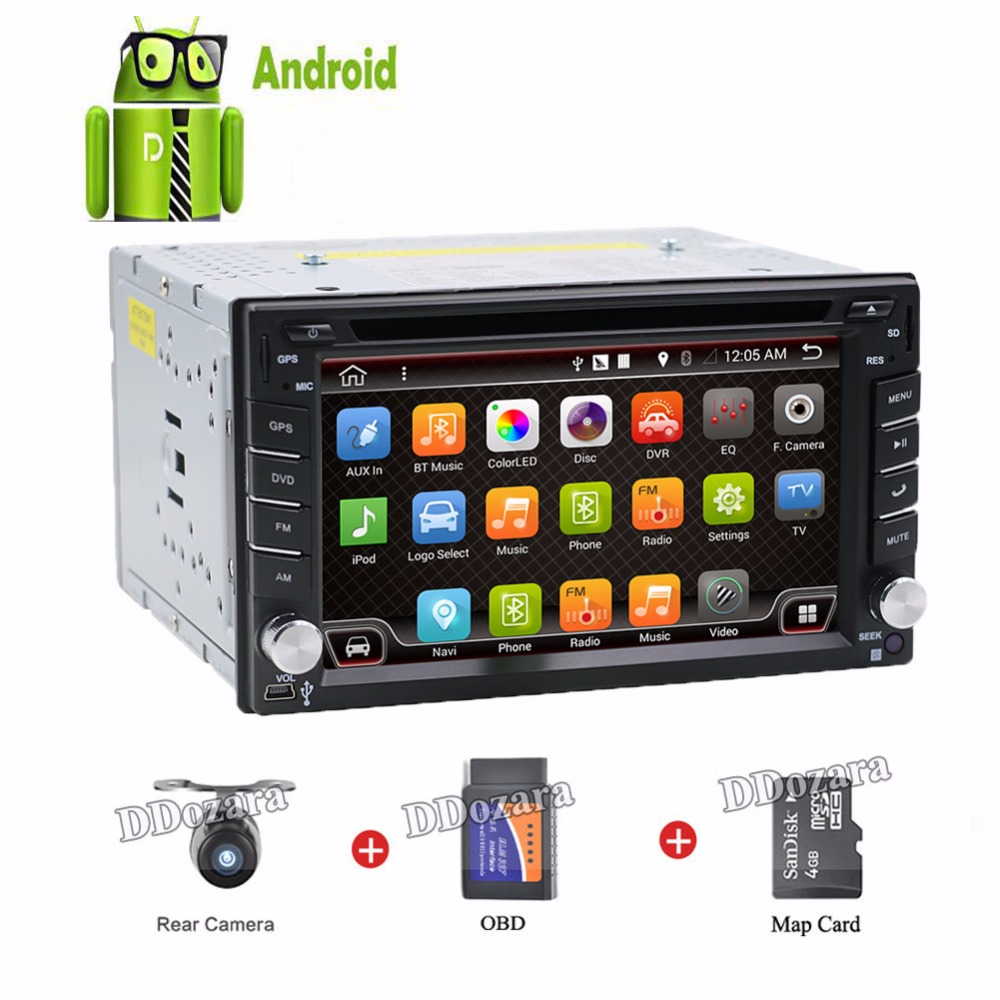 2 din 6 2 inch Android 6 0 car DVD player HD Touch Screen Video GPS