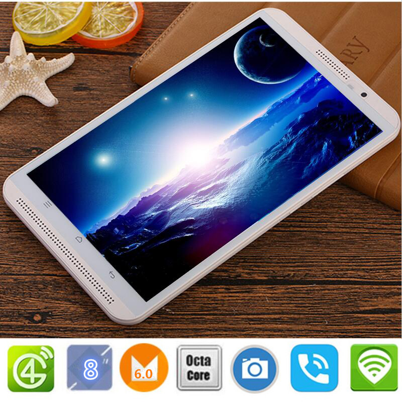 CARBAYTA 8 inch tablet pc Android 6.0 octa core  ROM 32G Dual SIM Bluetooth GPS 800x1280 IPS Smart Google tablets pcs M1S 4G LTE