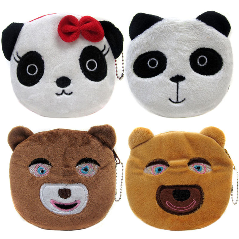 New Arrival Cartoon Winnie Coin Bags Children Zipper Money Purses Plush Gift Wallets Women Makeup Buggy Bag Pouch экспедиция шапка мамонт