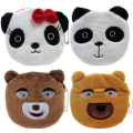 New Arrival Cartoon Winnie Coin Bags Children Zipper Money Purses Plush Gift Wallets Women Makeup Buggy Bag Pouch