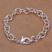 Hot sales silver-plated bracelet for women high quality fashion jewelry elegant lovely lady men for charms cute , H089