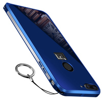 For Oneplus 5T Case Cover For Oneplus 5T Metal Frame Acrylic Mirror Back Cover Case For