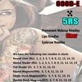 Горячая распродажа 600D-E ясно татуировки и перманентного макияжа поворотные иглы 5RS для ajhawk стиль пистолет бесплатная доставка