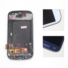 screen Compatible for samsung s3 i9300 lcd display frame s3 i9300 display Compatible for samsung s3 i9300 LCD White Blue