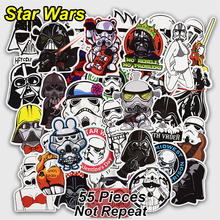 55 sts fast stil Creative Stickers för Skateboard Laptop Car Bagage Star Styling Vattentät Dekal Heminredning Toy Wars Sticker