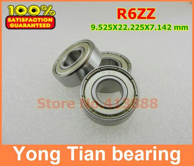"Metal Shielded Ball Bearing Bearings R6 R6z 3//8/"" X 7//8/"" X 9//32/"" R6ZZ 5 PCS"