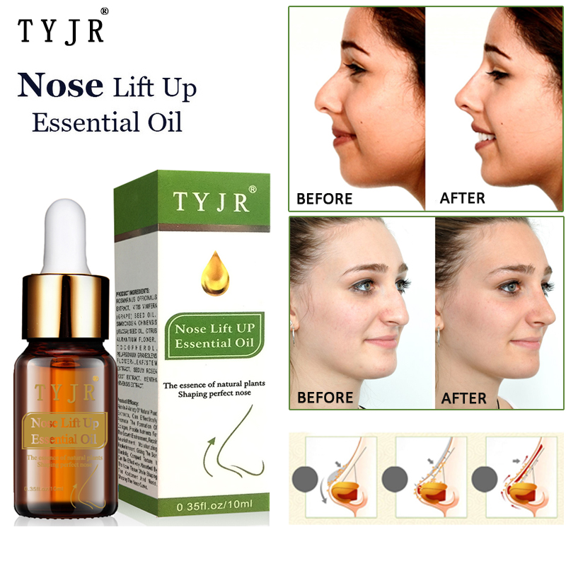 No Surgery Nose Lift Up Essential Oil Nasal Bone Remodeling Essence Narrow Thin Nose Lifting Firming Cream 10ML