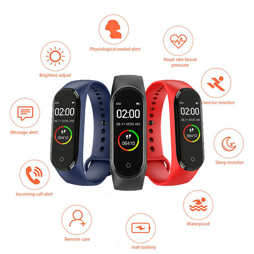 Sport-Watch Bracelet Monitor Tracke Blood-Pressure-Monitor Smart-Band Fitness Waterproof