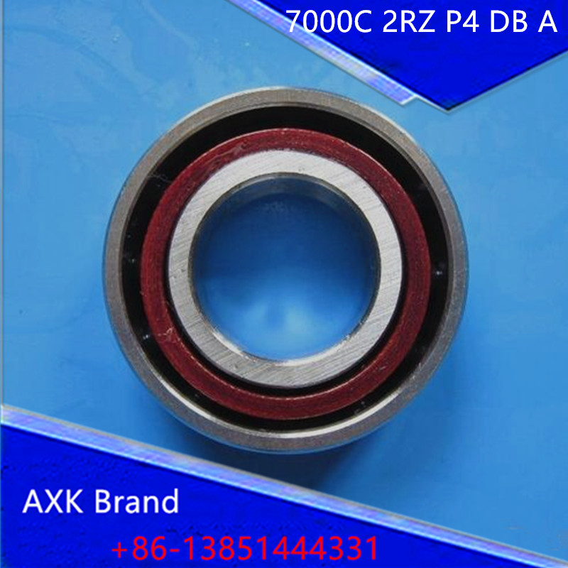 1pcs AXK 7000 7000 B7000C T P4 UL 10x26x8 Angular Contact Bearings Speed Spindle Bearings CNC ABEC-7 1pcs 71901 71901cd p4 7901 12x24x6 mochu thin walled miniature angular contact bearings speed spindle bearings cnc abec 7