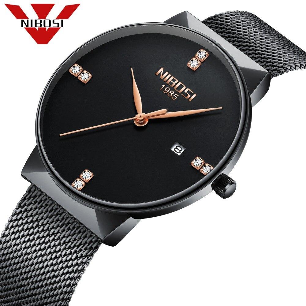Reloj de los hombres famosa marca de lujo superior Relogio Masculino cuarzo diamantes relojes malla aleación Milanese pulsera