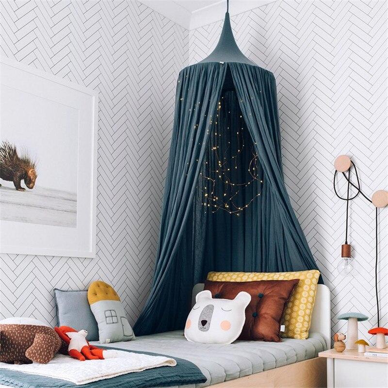 Nordic Baby Room Wall Decoration Single Door Hanging Net Children Bedroom Decor Cotton Kids Girls Mantle