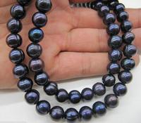 Charming 32 inch 11 12mm baroque Natural tahitian pearl necklace choker