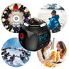 360 Action Camera Wifi Mini Panoramic Camera 2448 2448 Ultra HD Panorama Camera 360 Degree Waterproof