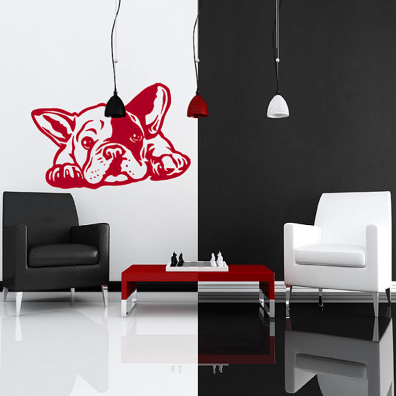 New Hot French Bulldog Dog Wall Decals  Vinyl Wall Sticker