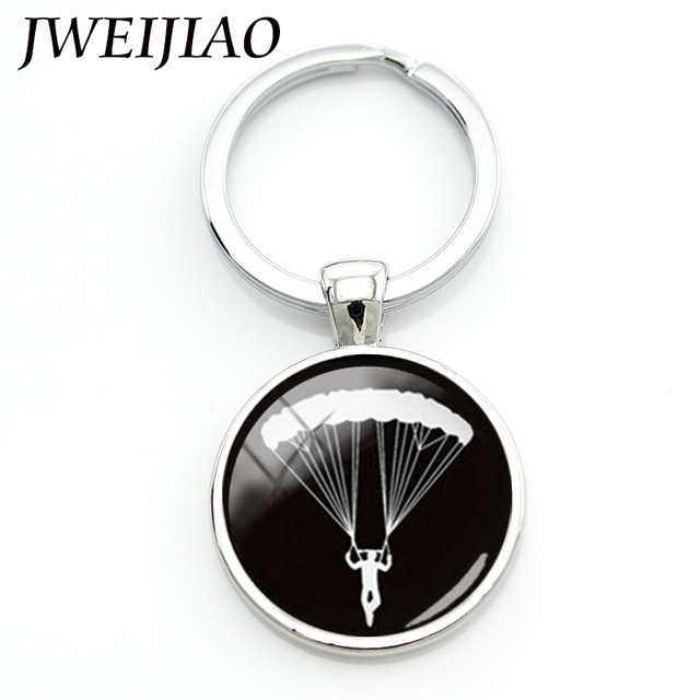 JWEIJIAO Llaveros Porte Clef Charming Daring Sports Sky Diving - Porte clef photo