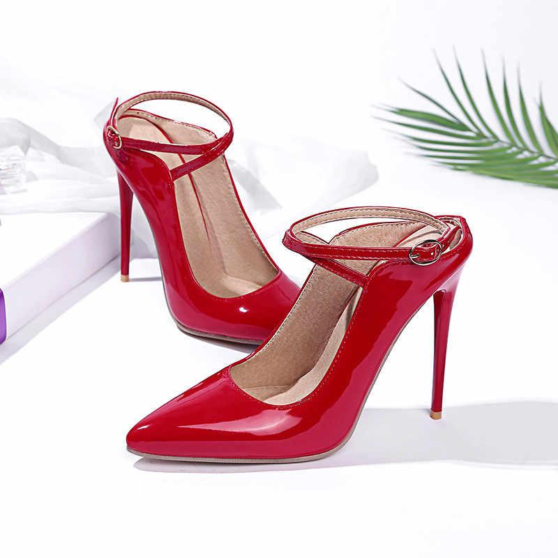 ASUMER PLUS ขนาด 34-47 ใหม่ rrival 2020 แฟชั่น slingback ผู้หญิงปั๊ม 12 ซม.รองเท้าส้นสูงรองเท้าส้นสูงงานแต่งงานรองเท้าผู้หญิง