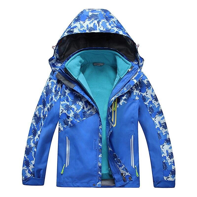 Imperméable à l'eau Index 15000mm vêtements d'extérieur pour enfants manteau chaud coupe-vent garçons filles vestes sport Double-pont pour 5-14 ans hiver