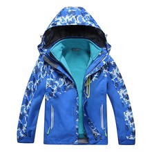 Children Outerwear Warm Coat Waterproof Windproof Boys Girls Jackets Sporty Kids Clothes Double-deck For 5-14T Winter and Autumn