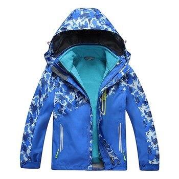 Waterproof Index 15000mm Children Outerwear Warm Coat Windproof Boys Girls Jackets Sporty Double-deck For 5-14 Years Old Winter Outwear & Coats