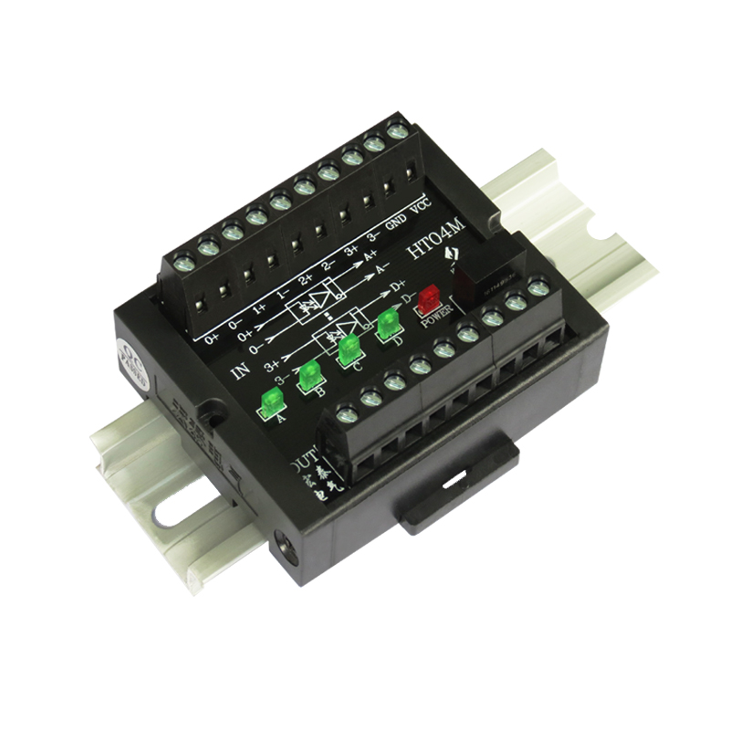 4 channels Single ended to differential Converter 10MHz HTL TTL Collector Pulse Signal to RS422 PNP
