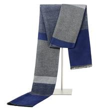 2019 nowa luksusowa marka kaszmirowy szalik zimowy szalik mężczyźni Fashion Design niebieski Patchwork Plaid Casual ciepłe szaliki Neckercheif tanie tanio MENGLINXI Dla dorosłych Akrylowe Kaszmiru Wełna Moda 175 cm NSNJ0068 men winter scarf men scarf winter 180cm*30cm Man Cashmere scarf