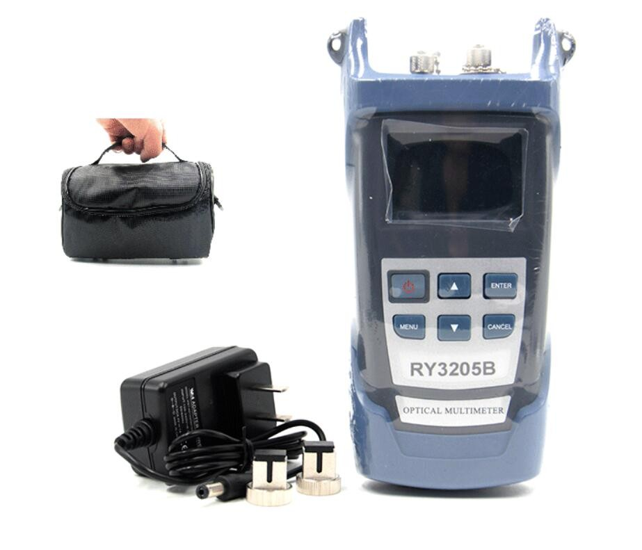 Handheld RY3205B 70 10dbm Fiber optical power meter red light machine and 10MW Optical Laser Light