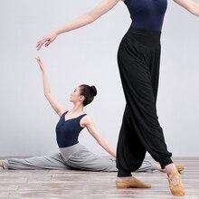 Women Cotton Dance Yoga Full Length Pants Ladies Ballet Belly Dance Trousers Loose Bloomers недорого
