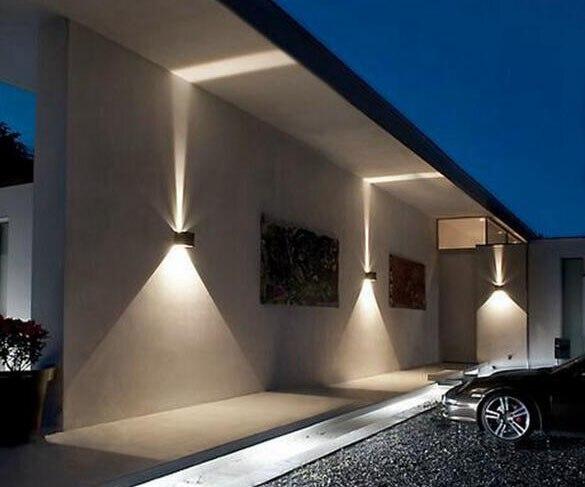 Illuminazione parete esterna casa lampade da parete per