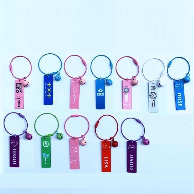 Blackpink Izone Jungkook V Wice Exo Got7 Seventeen Txt Keychains Acrylic  Birthday Name Key Chain Key Ring Keyboard Pinky Color